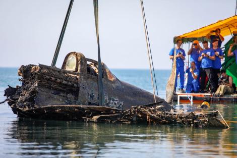 Содна Чёрного моря подняли истребитель времён Великой Отечественной войны