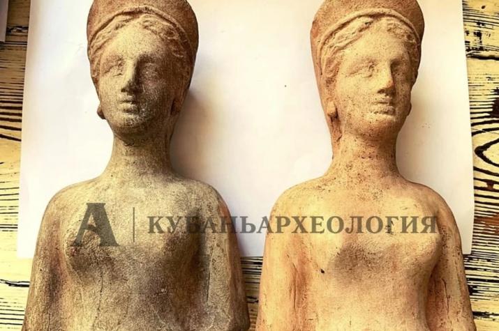 В Анапе археологи обнаружили фигуры Персефоны, которым 2 тысячи лет